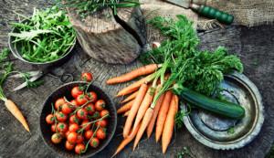 Geerntetes Gemüse